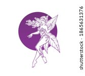 mistyc elf princess  fairy of...   Shutterstock .eps vector #1865631376