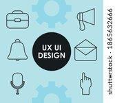 icon set of ux ui line icons...