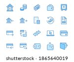 finance line icon set. money... | Shutterstock .eps vector #1865640019