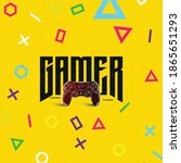gamer typography logo design... | Shutterstock .eps vector #1865651293
