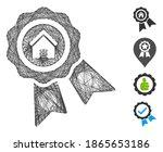 vector wire frame realty award. ...   Shutterstock .eps vector #1865653186