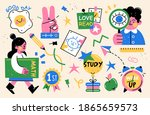 back to school collection of... | Shutterstock .eps vector #1865659573