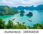 scenic view of islands in... | Shutterstock . vector #186566018