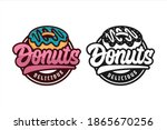donut delicious vector design... | Shutterstock .eps vector #1865670256