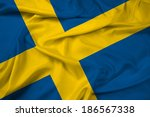 waving sweden flag | Shutterstock . vector #186567338