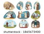 islam  family  religion set...   Shutterstock .eps vector #1865673400
