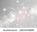 sparks and golden stars glitter ... | Shutterstock .eps vector #1865690800