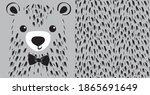 pretty little fluffy bear.... | Shutterstock .eps vector #1865691649