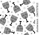 Hanukkah Symbol Menorah With...