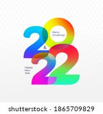 happy new year logo design 2022.... | Shutterstock .eps vector #1865709829