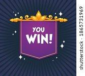 you win  congratulation bright...   Shutterstock .eps vector #1865731969