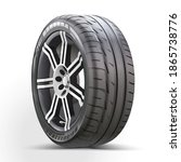 car wheel isolated on a white...   Shutterstock .eps vector #1865738776