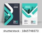 corporate book cover design...   Shutterstock .eps vector #1865748373