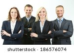 group of business people... | Shutterstock . vector #186576074