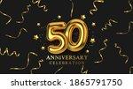 50th anniversary celebration....   Shutterstock .eps vector #1865791750