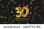 30th anniversary celebration....   Shutterstock .eps vector #1865791780