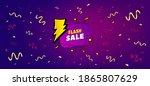flash sale banner. festive... | Shutterstock .eps vector #1865807629
