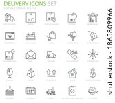 delivery editable stroke icons...
