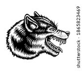 a black and white vector... | Shutterstock .eps vector #1865823469