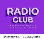 vector trendy banner radio club.... | Shutterstock .eps vector #1865829856