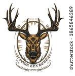 deer head vector design element ... | Shutterstock .eps vector #1865846389