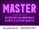 neon light 3d alphabet  extra...   Shutterstock .eps vector #1865857429