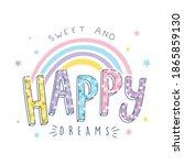 cute hand drawn slogan...   Shutterstock .eps vector #1865859130