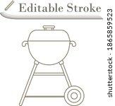 icon of barbecue. editable...