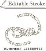 icon of rope. editable stroke...