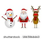 santa claus  reindeer and... | Shutterstock . vector #1865866663