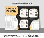 cake shop menu template with... | Shutterstock .eps vector #1865870863