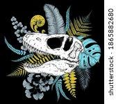 tyrannosaurus rex skull and...   Shutterstock .eps vector #1865882680