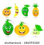 smile fruit | Shutterstock .eps vector #186593183