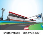 racing track at day vector... | Shutterstock .eps vector #1865936539