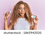 beautiful caucasian teenager... | Shutterstock . vector #1865942020