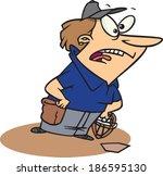 cartoon woman umpire   Shutterstock .eps vector #186595130
