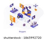 bloggers isometric web banner....