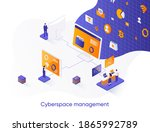 cyberspace management isometric ... | Shutterstock .eps vector #1865992789