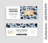 discount voucher design  front... | Shutterstock .eps vector #1865996599