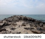 sea side view with rocks ...   Shutterstock . vector #1866004690