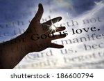 Detail Closeup God Is Love...