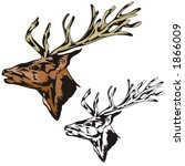 vector illustration of an elk. | Shutterstock .eps vector #1866009