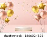 christmas minimal rendered... | Shutterstock .eps vector #1866024526