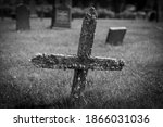 An Old Wooden Cross On A...