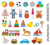 illustration childrens set of... | Shutterstock .eps vector #1866036076