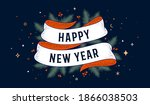 happy new year. greeting card... | Shutterstock .eps vector #1866038503