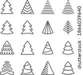 christmas tree icon... | Shutterstock .eps vector #1866039640
