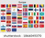set of flags european countries ... | Shutterstock .eps vector #1866045370