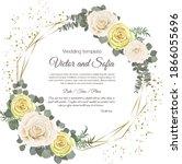 frame for a wedding invitation. ...   Shutterstock .eps vector #1866055696