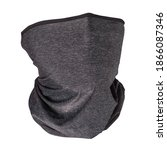 Small photo of Grey neck gaiters. Isolated on white, clipping path included